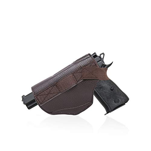 Montana West Leather Gun Holster for Concealed Carry Purse for Women comes with Velcro, Fits All Firearms Glock 17,19,23,26,27,42,43x holster Pistols 9mm M&P Shield Taurus GUN-HOLSTER-CF