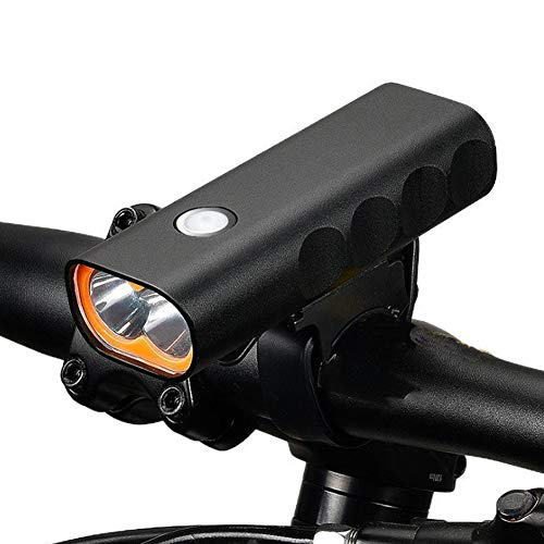 BAQIU Faro de Bicicleta Recargable USB ultrabrillante, luz de Bicicleta de Faro Delantero súper Brillante e Impermeable, 3 Modos de luz, se Adapta a Todas Las Bicicletas, montaña