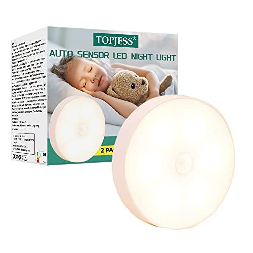 Luz nocturna LED con sensor de infrarrojos, lámpara de noche para bebé, luz nocturna infantil,Lámpara LED para Niños,Lámpara de Mesita de Noche,brillo ajustable,Regalo para bebé,Habitación, Cámping