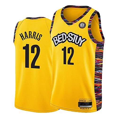 GJKL Jòe Hárris - Camiseta de baloncesto para hombre, número 12, chaleco sin mangas, 100% poliéster, resistencia al desgarro, talla XXL