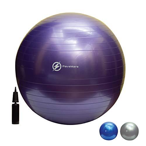 PavaMara Fitball - Pelota de gimnasia antideslizante (55/65/75 cm, capacidad de carga de 400 kg)