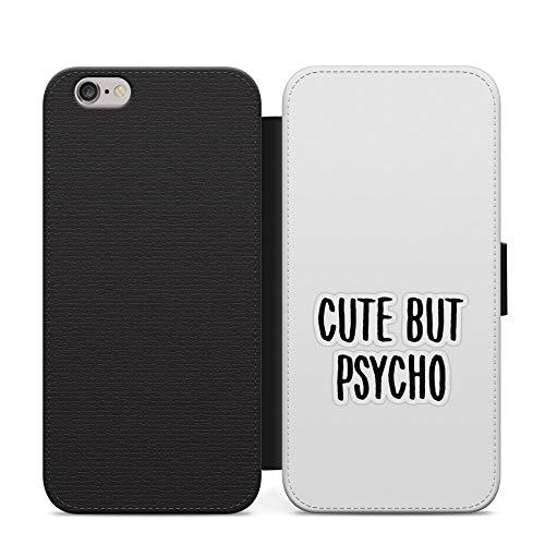 Simple lindo pero psycho niñas cuero cartera teléfono caso y cubierta para Samsung Galaxy A20e