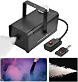 Freeasy Fog Machine 500 Watt Smoke Fog Machine Wireless Remote Control Portable for Halloween Holidays Parties Decoration Christmas Wedding Quick Generation of Huge Fog 3000CFM, with Fuse Protection