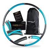 WELLRELAXX Hula Hoop Fitness Reifen für Anfänger und Fortgeschrittene - 90cm - Stabiler Hulla Hoop ohne Wellen für schonendes Training - Sport Hula Hoop Reifen zum Abnehmen aus 8 Elementen