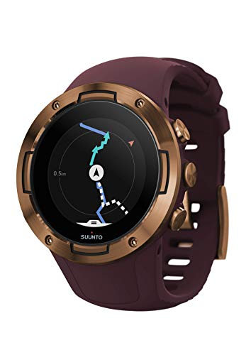 Suunto 5 Multisport GPS Watch with Wrist-Based Heart Rate Sensor Burgundy/Copper