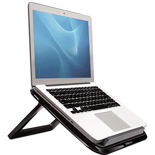 Fellowes I-Spire Series Portable Height Adjustable Laptop Stand for Desk - Black