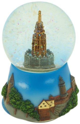 Speeldoos wereld 17505 Nürnberger fontein in een sneeuwbol