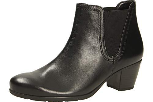 Gabor Damen Chelsea Boots 35.524, Frauen Stiefelette,Stiefel,Halbstiefel,Bootie,Schlupfstiefel,hoch,schwarz (Uni),40.5 EU / 7 UK