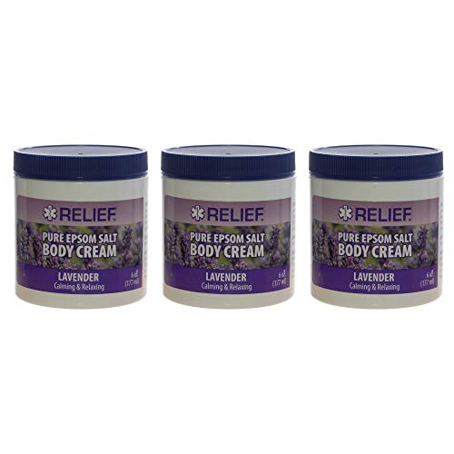 Pure Epsom Salt Body Cream with Calming and Relaxing Lavender 6 oz