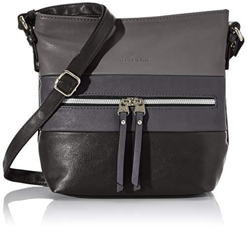 TOM TAILOR Umhängetasche Damen Ellen, (Schwarz), 25.5x23.5x5.5 cm, TOM TAILOR Handtaschen, Taschen für Damen, klein