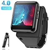 AGPTEK Clip MP3 Player with Bluetooth, 16GB Sport Bluetooth MP3 Watch for Running