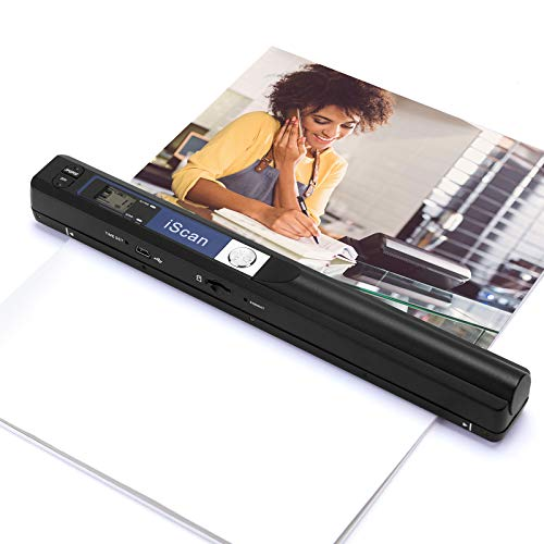 Magic Wand Portable Scanners for Documents, Photo, Old Pictures, Receipts, 900DPI, Scan A4 Color Page in 3sec, 16G Memory Card Included, MUNBYN Photo Scanner for Computer, Laptop