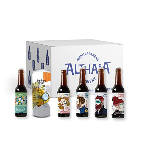 Pack West Coast - Caja 24 unidades - Cervezas Althaia - Cerveza artesana - Premiadas Internacionalmente. Regalos especiales. Craft Beer