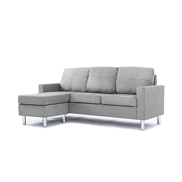 Casa Andrea Milano LLC Modern Sectional Sofa – Small Space Reversible Configurable...