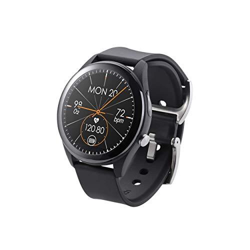 ASUS HC-A05 VivoWatch SP Smartwatch mit Schrittzähler, Route, Herzfrequenz, Sound, Kalorien, Höhenmesser, wasserdicht, Schwarz