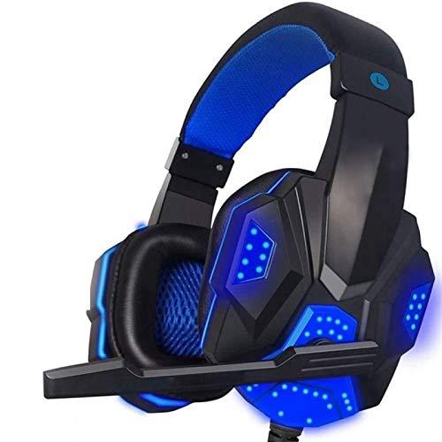 Control Remoto por Voz del micrófono para Auriculares con Gancho para la Oreja PS4 con micrófono y Luces LED