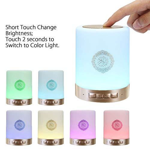 LED Bluetooth Lautsprecher Musik Smart Touch Nachtlicht Schreibtischlampe Wecker