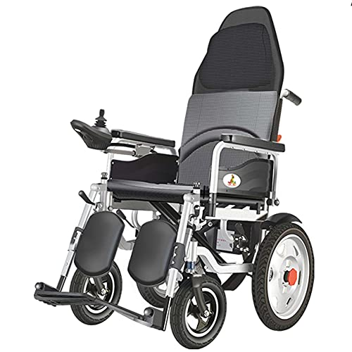 Silla de ruedas eléctrica plegable, silla de ruedas asistida por rehabilitación portátil totalmente recostada, utilizada por ancianos mujeres embarazadas y adolescentes/A / 105×68×128cm