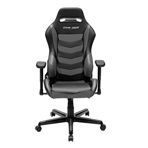 DXRacer Gaming Stuhl, OH/DH166/NG, D-Serie, schwarz-grau, das Original von DX Racer