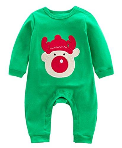 Bambino Babbo Natale Pigiama Set Bambini Unisex Bambini Bambini Indumenti da notte Xams Costumi Outfits Sleepsuit Infant 0-12 Mesi Deyou