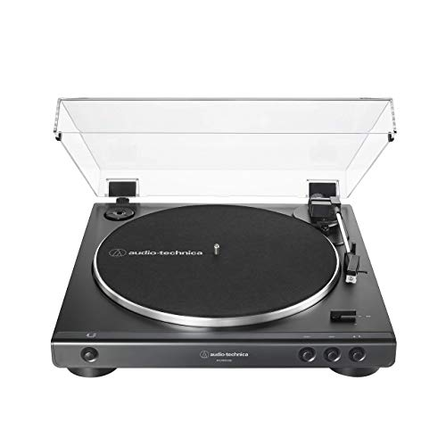 Audio-Technica at-LP60XUSB-BK Fully Automatic Belt-Drive Stereo Turntable, Black (Renewed)
