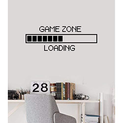 Lznxzq Zona De Jogo De Decalque Em Parede De Vinil Carregando Adesivo De Parede Gamer Computer Mural Mural Game Play Room Decoration Game Loading Decal