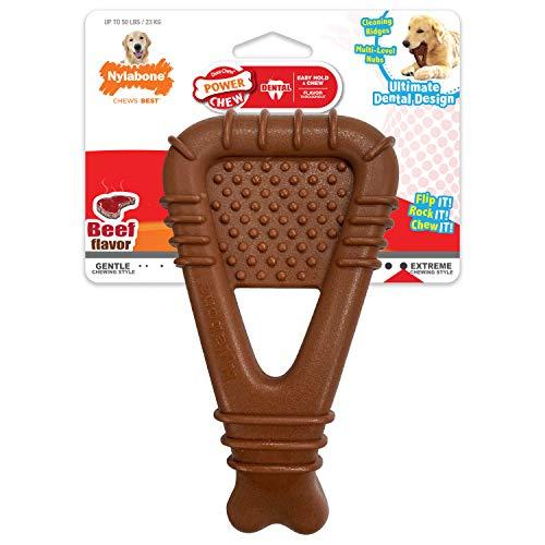 Nylabone Power Chew Arch Bone Dog Dental Chew Toy Arch Beef Large/Giant (1 Count)
