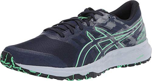 ASICS Men's Gel- Scram 5 Trail Running Shoes, 12M, Peacoat/New Leaf