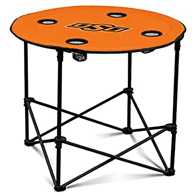 Oklahoma State Cowboys Collapsible Round Table with 4 Cup Holders and Carry Bag, Orange