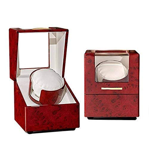 Watch Shaker, Watch Boxes Winder for Automatic Watches Wood Rotation Best Watch Winder Extremely Silent Motor for Men and Women Watches