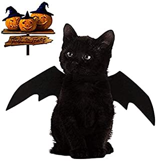 KOERR Halloween Cat Costume Cats Dogs Pet Bat Wings
