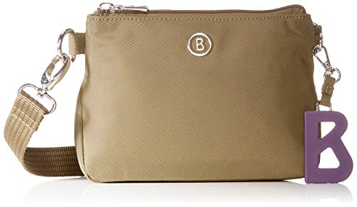 Bogner Damen Verbier Kata Shoulderbag Xshz Schultertasche, Braun (Khaki), 4.5x13x17 cm