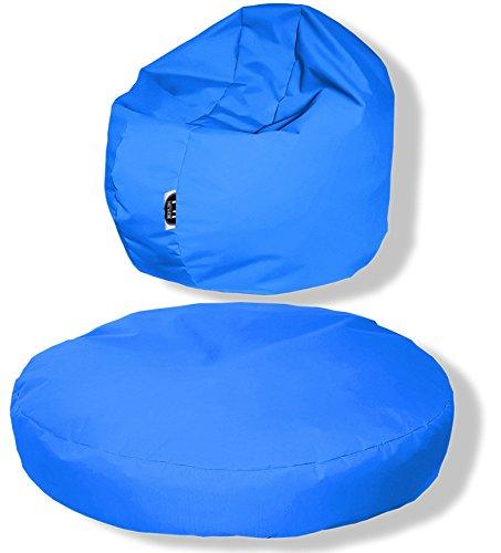 Patchhome zitkussen, rond, 2-in-1, voor binnen en buiten, 80 x 20 cm, in 25 verschillende Kleuren: 80x20cm koningsblauw