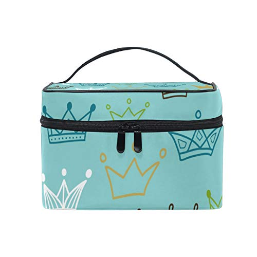 Makeup Train Cases Crowns Travel Cosmetic Bag Portable Artist Storage Bag Organizer for Womens