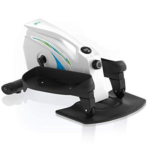 Under Desk Elliptical Exercise Trainer - Premium Compact Elliptical for Home or Office -Desk Stepper with Adjustable Resistance - Seated Desk Elliptical