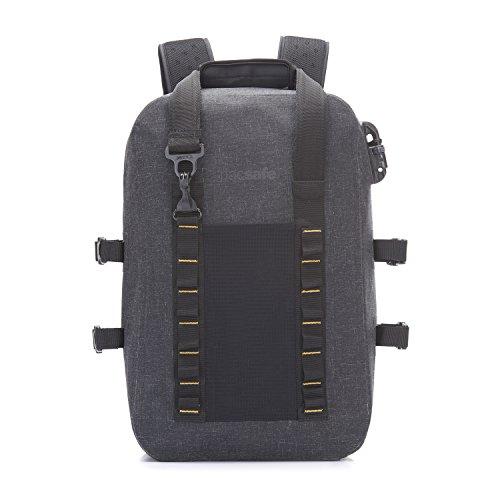 Pacsafe Dry 25 L Backpack, großer wasserfester Rucksack, Anti-Diebstahl Tasche, wasserresistenter Schulterrucksack mit Diebstahlschutz, Sicherheits-Features – 25 Liter, Grau / Charcoal