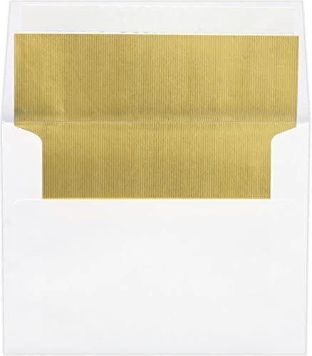 LUXPaper A2 Invitation Envelopes in 60 Gold Popular shop is the lowest price challenge LUX lb. L Atlanta Mall with White