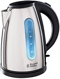 Russell Hobbs 19390 Orleans Polished Kettle, 3000 W, 1.7 Litre, Stainless Steel Silver