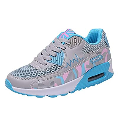 RAINED-Women's Mesh Sneakers Fitness Sport Shoes Casual Running LoafersLow Top Walking Shoes Platform Shoes