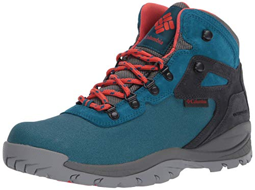 Columbia Women's Newton Ridge Lightweight Waterproof Shoe Hiking Boot, Dark Turquoise/zing, 8