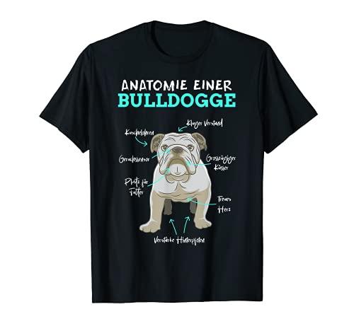 Anatomie einer Bulldogge Hundhalter Englische Bulldogge T-Shirt