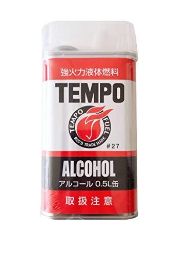 TEMPO 高純度 アルコール 500ml 0027 アウトドア 液体燃料 ランタン ストーブ