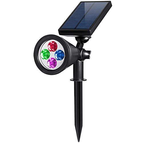 AMIR Gartenleuchten, 200 Lumen Solar Lichter, Auto-on/off Flag Pole Lichter, Wasserdichte Outdoor Spot Licht für Garten, Pool, Baum, usw (Farbe ändern)