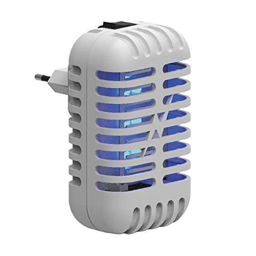 Gazechimp Luz Eléctrica del Asesino de Los Mosquitos del Asesino del Mosquito para El Enchufe de La UE del Dormitorio Al Aire Libre - Blanco