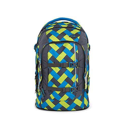satch Pack Chaka Curbs, ergonomischer Schulrucksack, 30 Liter, Organisationstalent, Grün