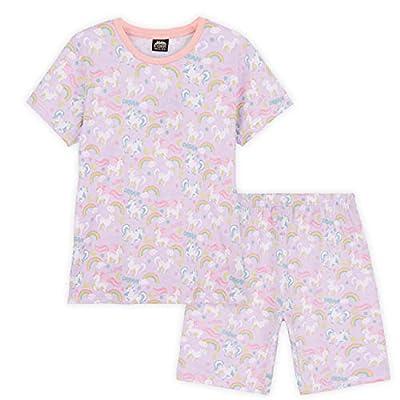 CityComfort Pijama de Unicornios para Niñas, Pijama Niña Corto, Conjunto de 2 Piezas de Algodon, Regalos para Niñas Edad 2-12 Años (Rosa, 7-8 años)