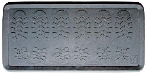 Esschert Design Schuhablage für 3 Paar, Stiefelablage, Stiefelschale, Schuhschale, Stiefelmatte, Schuhmatte in grau, ca. 80 cm x 40 cm x 2,2 cm