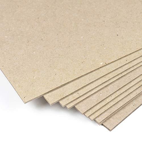 Cartón rígido compacto 2,5 mm, 1600 g/m², A4, Cartón duro Prensado, para...