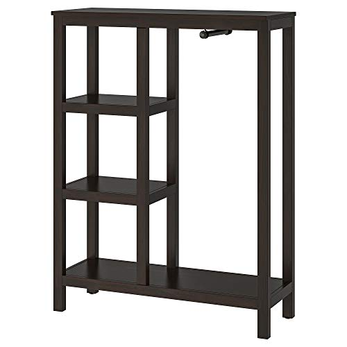 HEMNES öppen garderob 99x37x130 cm svartbrun