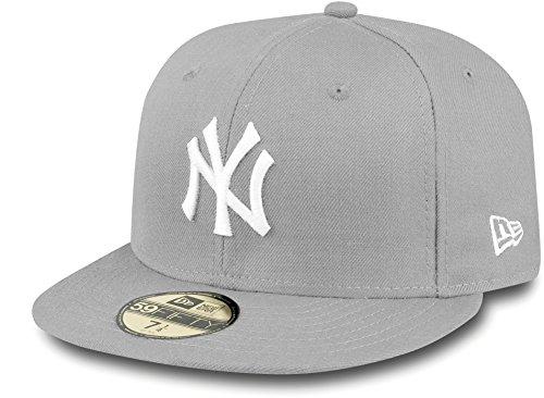 New Era New York Yankees - 59fifty Cap - MLB Basic - Grey/White - 7 1/4-58cm (L)